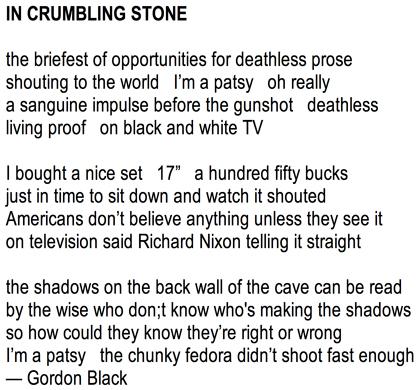 GordonBlackCrumblingStone