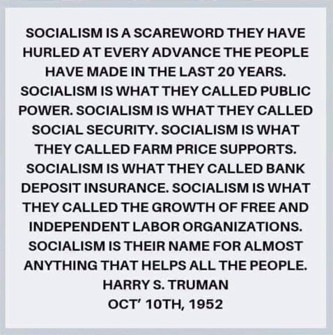 TrumanOnSocialism